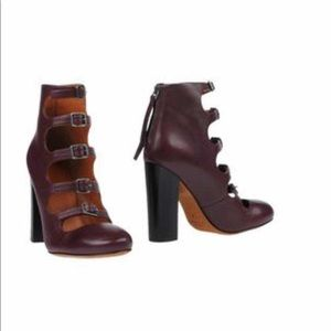 Marc by Marc Jacob leather buckle heels bootie
